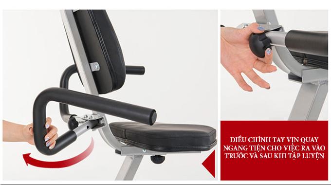 Xe đạp Dual E-Bike chạy bằng điện, tự động quay giúp hổ trợ tập luyện thụ động cho người bị liệt. Trên bảng điều khiển có thể tập chân tay cùng lúc, hoặc tập tay, chân riêng biệt.