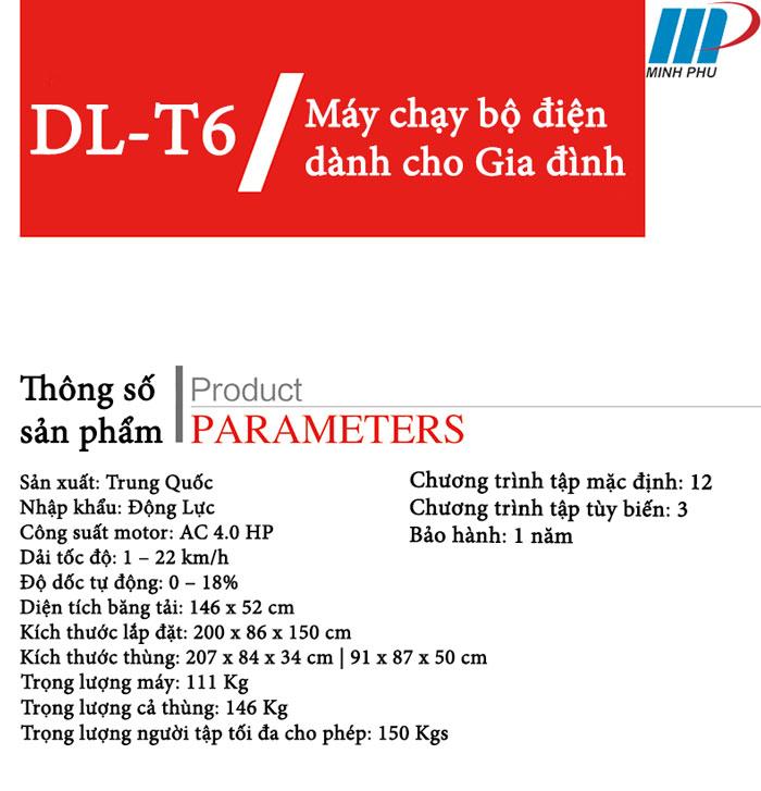 thông tin máy chạy bộ DL-T6