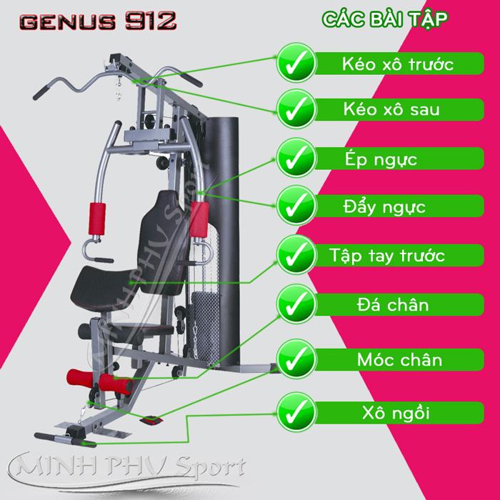 Giàn tạ đa năng Genus 912